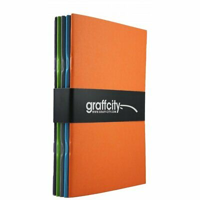 NEW Graff City Sketch Book Bundle 5 X A5 Sketchpads Each A5 Pad Contain UK FAST