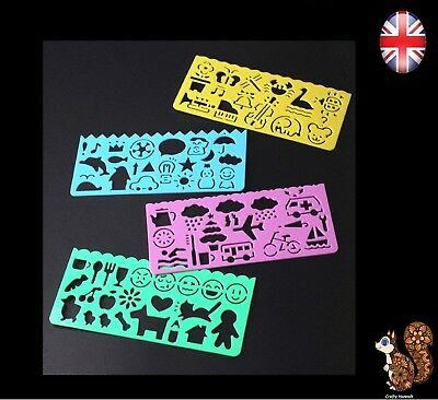 Plastic Picture Drawing Template Stencil Ruler Painting For Kid Children Student