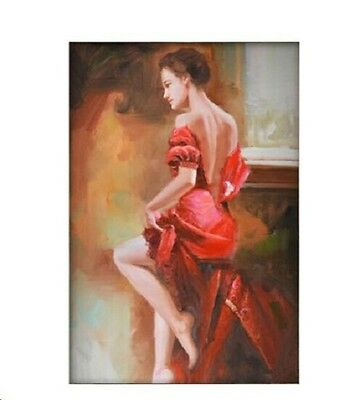 Hand-painted art oil painting abstract portrait Beautiful Girl #170 NO Frame