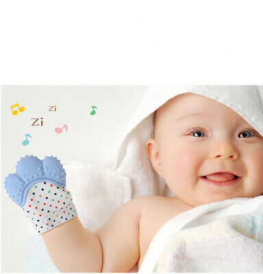 Baby Silicone Mitts Teething Mitten Teething Glove Wrapper Soft Teether Hot Item
