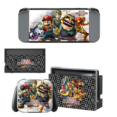 Ultimate Super Smash Bros For Nintendo Switch Console Vinyl Skin Sticker Covers