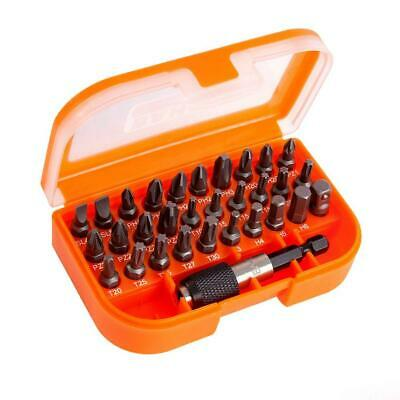 56 PIECE CRV SCREWDRIVER BIT SET AND HOLDER PZ POZI TORX PH GB10