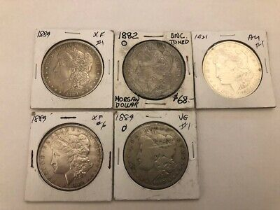 Morgan Dollars x 5