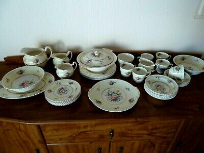Johnson Bros.Windsor Ware Circa 1920's Garden Posy Dinner Set