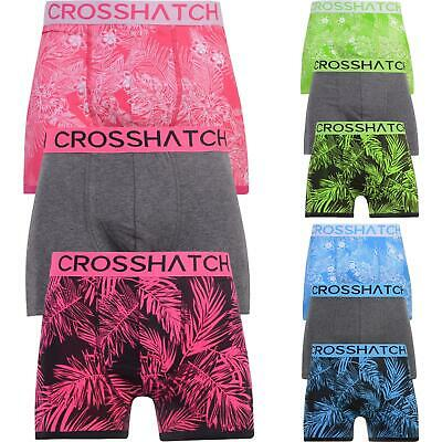 Mens 3 Pack Crosshatch Boxer 'TRESCO' Designer Underwear Trunks Multipack Shorts