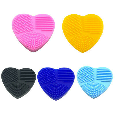 Silicone Makeup Brush Cleaner Cleaning Cosmetic Scrubber Board Mat Pad Wash Tool