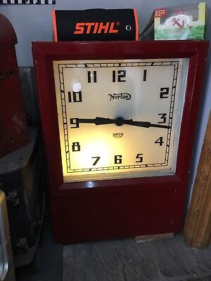 Vintage Large Norton Smith Electric Wall Clock Station Factory Clock WORKING