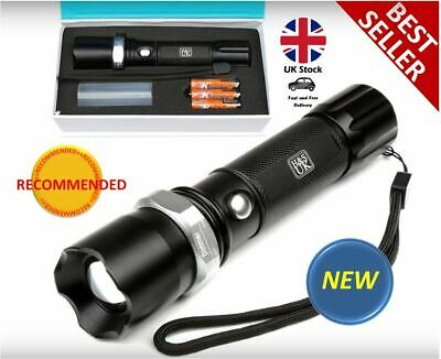 Super Bright LED Torch Camping Walking Portable Aluminium Led Light UK DURABLE
