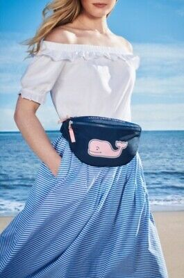 Vineyard Vines for Target Pink Whale Fanny Pack-Navy NWT IN HAND