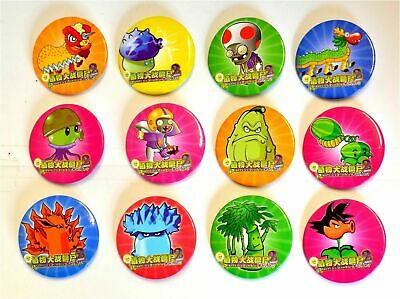 165 x Childrens Kids PLANTS VS ZOMBIES Pin Button Badges Party Bags (B28)