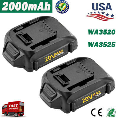 2X For Worx WA3520 WA3525 WA3512 20Volt Max 2.0AH Lithium Battery WG151s WG155s