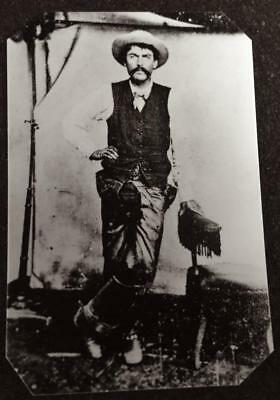 Fred Waite Fought Along Side With Billy The Kid tintype C624RP