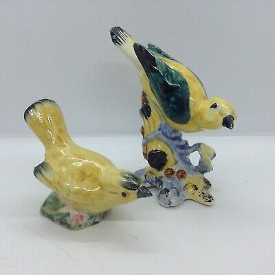 Two Vintage Stangl Pottery Yellow Warbler Birds