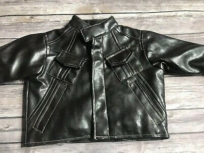 KENNETH COLE REACTION Baby Brown Leather Look Jacket 6 - 9 Months Adorable Kids