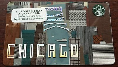 New! Starbucks 2016 City Gift Card: Chicago River  - No Value - Unswiped!