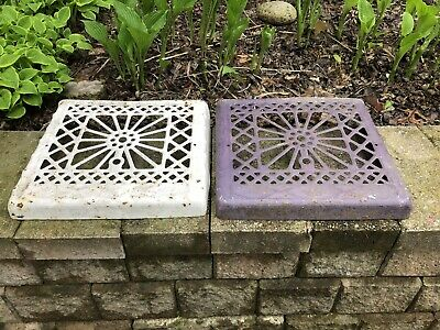 vtg floor grate Heat Register Lot Victorian Industrial Cast Home Wall Antique