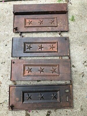 vtg floor Door grate Star Register Lot Victorian Industrial Cast Wall Antique