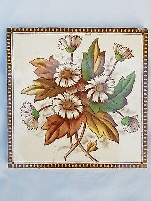 Charming English Period Tile Colourful Flower Design
