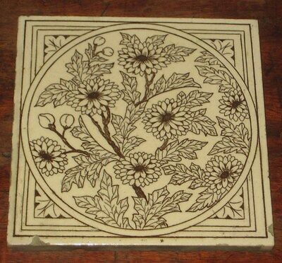 Minton Hollins Aesthetic Flower Design Tile