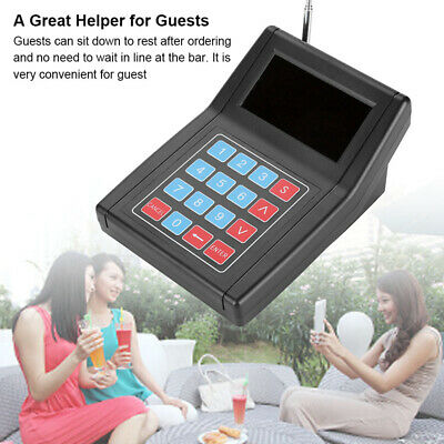 Restaurant Cafe Paging Queuing System Wireless Call Keyboard +20x Coaster Pagers