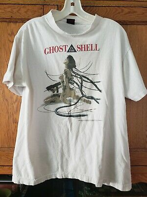 Ghost in the Shell 1995 Vintage Shirt VTG Authentic 90s Nineties LARGE Broken In