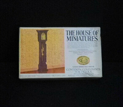 The House Of Miniatures William & Mary Tall Case Clock Kit Doll House, 40018 NIB