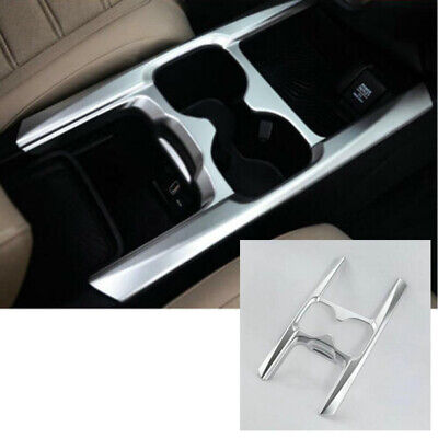 ABS Plastic Cup Holder Cover Shell For Honda CRV CR-V 17-18 Silver Decoration