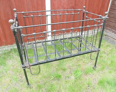 (#50)   victorian metal cot excellent condition   (Pick up only)