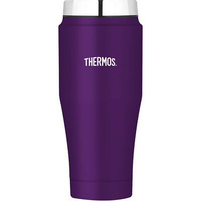 Thermos Stainless Steel Vacuum Insulated Travel Tumbler 16oz, Purple