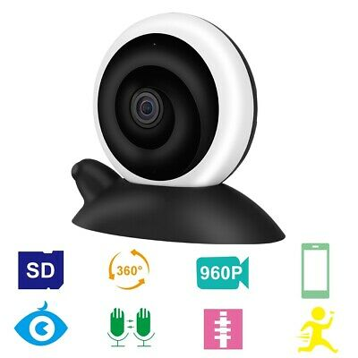 Panorama WIFI 960P HD Kamera Schneckenform Baby Monitor Home Security Camcorder