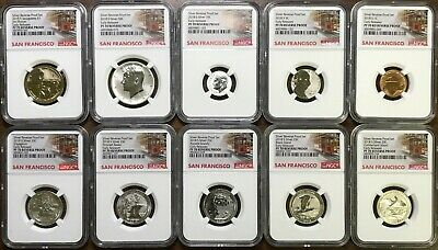 2018-S Silver Reverse Proof Set - NGC PF70 - SILVER PERFECT SET - Early Releases