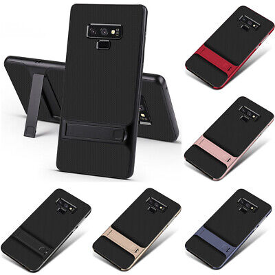 For Samsung Galaxy S10 9 Plus Slim Shock Absorbing TPU + PC Kickstand Case Cover