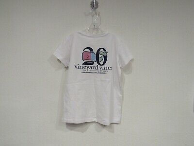 Vineyard Vines Youth MED Short Sleeve Whale Pocket T-Shirt Jeep American Dream