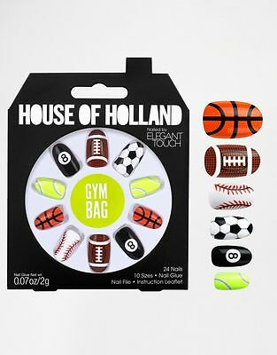 House Of Holland By Elegant Touch False Nails Sports Theme 24 Nails In 10 Sizes