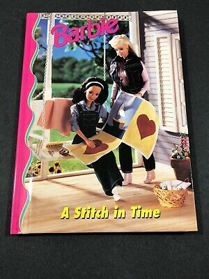 Barbie And Friends Book Club - A Stitch In Time HC Picture Chapter Book 4-8 VTG