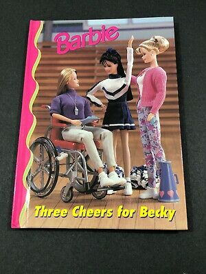 Barbie And Friends Book Club - Three Cheers For Becky HC Picture Chapter 4-8 VTG