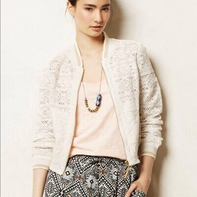 1c9599d26 NWT ANTHROPOLOGIE WEST End Bomber Full Zip Embellished Jacket by Hei ...