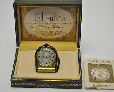 1950's Jaeger LeCoultre Memovox Cal. 489/1 Manual Wind Alarm Pocket Watch in Box
