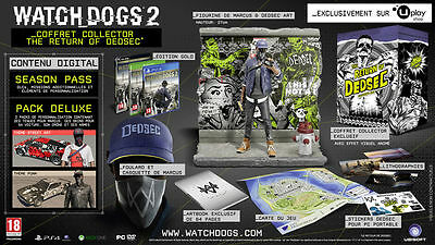 Watch Dogs 2 Edition Collector Return Of Dedsec EUR FRA - PlayStation 4 - NEUF