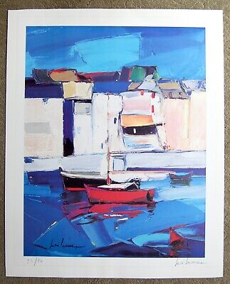 Sailboat Cubist Limited Edition 59/80 Signed Lithograph Sailboat Eclectic Cool