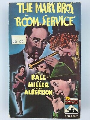 """Betamax Movie The Marx Brothers """"Room Service""""Lucille Ball, Ann Miller 1938 78M"""
