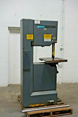 "Used Delta Rockwell Vertical 20"" Band Saw 28-3X0 150"" blade 3PH 2HP Model 20"