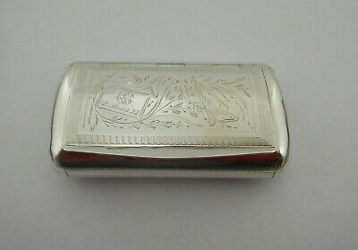 Lovely  Antique French Solid Silver Snuff Box 1892