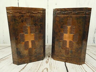 Set of 2 Handcrafted Copper Wall Sconce Light Fixtures Lamp Lightcrafters Texas