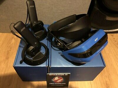 Acer AH101 Windows Mixed Reality Headset - Blue. Plus 2 Motion Controllers AAN