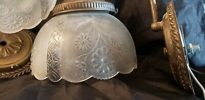 Vintage Wall Sconces/Lights frosted glass globes