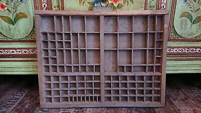 Vintage Printing Letterpress Typeface Drawer Wall Display Printer Tray French!!
