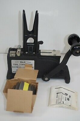 B&K Tool & Die FLORAL PICK MACHINE Flower Stemming w/Weight