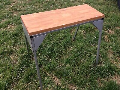 Vintage 1970's Industrial Sewing Machine Table