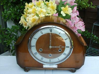 Smiths Westminster Chime Railway Presentation Clock. 1957. Fully Overhauled.